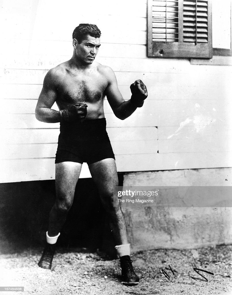 Jack Dempsey poses as he trains. Show more