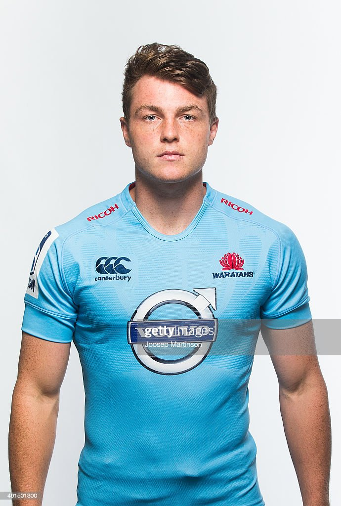 Jack Dempsey poses during the 2015 Super Rugby Waratahs headshots ...