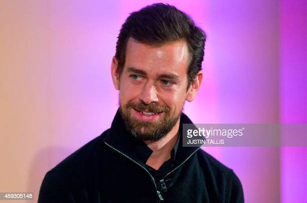 Jack Dorsey CEO of Square Chairman of Twitter and a founder of both holds an event in London on November 20 where he announced the launch of Square...