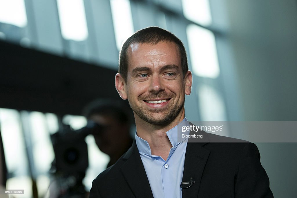 <a gi-track='captionPersonalityLinkClicked' href=/galleries/search?phrase=Jack+Dorsey&family=editorial&specificpeople=5818892 ng-click='$event.stopPropagation()'>Jack Dorsey</a>, chairman and co-founder of Twitter Inc., smiles during a Bloomberg West Television interview in San Francisco, California, U.S., on Friday, May 17, 2013. Twitter is expanding into smartphones and other wireless products, seeking to boost the number of users and advertisers. Photographer: David Paul Morris/Bloomberg via Getty Images