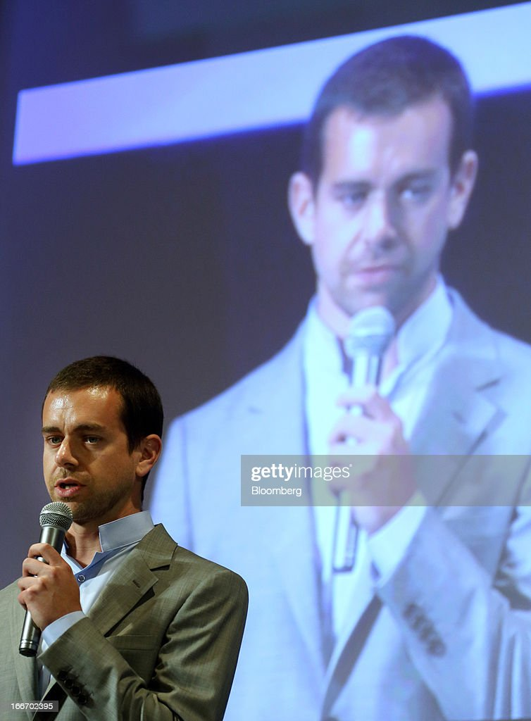 <a gi-track='captionPersonalityLinkClicked' href=/galleries/search?phrase=Jack+Dorsey&family=editorial&specificpeople=5818892 ng-click='$event.stopPropagation()'>Jack Dorsey</a>, chief executive officer of Square Inc. and co-founder and chairman of Twitter Inc., speaks at the New Economy Summit 2013 hosted by the Japan Association of New Economy (JANE) in Tokyo, Japan, on Tuesday, April 16, 2013. Rakuten Inc. Chairman Hiroshi Mikitani set up the JANE in June after quitting the main business lobby Nippon Keidanren in protest over the group's support for nuclear power. Photographer: Tomohiro Ohsumi/Bloomberg via Getty Images