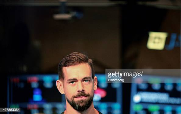 Jack Dorsey chief executive officer of Square Inc listens during an interview on the floor of the New York Stock Exchange in New York US on Thursday...