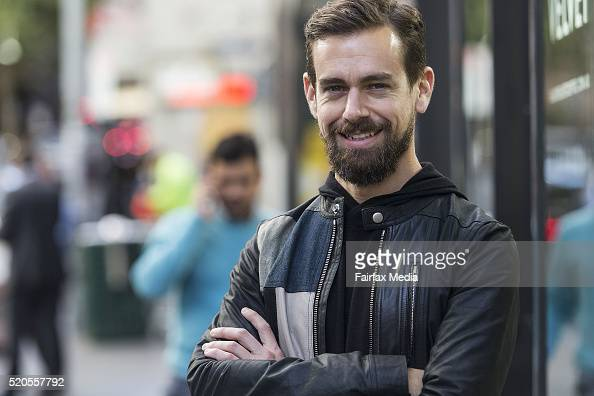 Jack Dorsey cofounder and CEO of Square and Twitter poses for a portrait at Black Velvet Espresso on April 11 2016 in Melbourne Australia