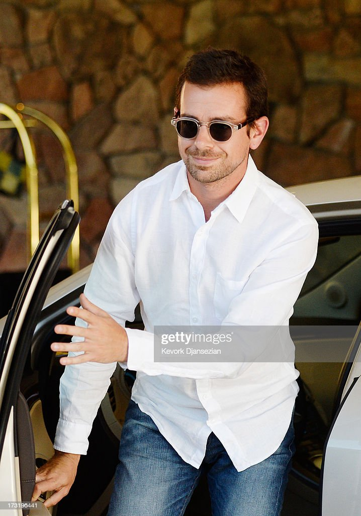 Jack Dorsey, creator of Twitter and founder and CEO of Square Inc., arrives for the Allen & Co. annual conference on July 9, 2013 in Sun Valley, Idaho. The resort will host corporate leaders for the 31th annual Allen & Co. media and technology conference where some of the wealthiest and most powerful executives in media, finance, politics and tech gather for weeklong meetings which begins Tuesday. Past attendees included Warren Buffett, Bill Gates and Mark Zuckerberg.