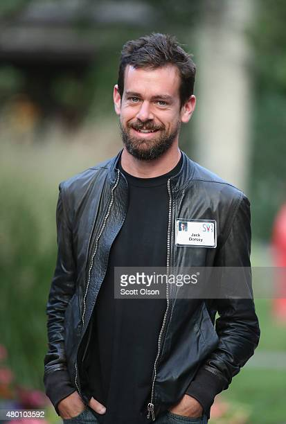 Jack Dorsey creator of Twitter and founder and chief executive officer of Square attends the Allen Company Sun Valley Conference on July 9 2015 in...