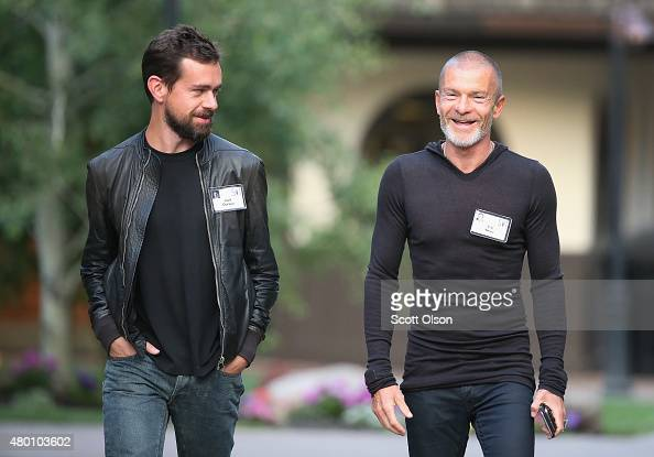 Jack Dorsey creator of Twitter and founder and chief executive officer of Square chats with Aviv 'Vivi' Nevo venture Capitalist with NV Investments...