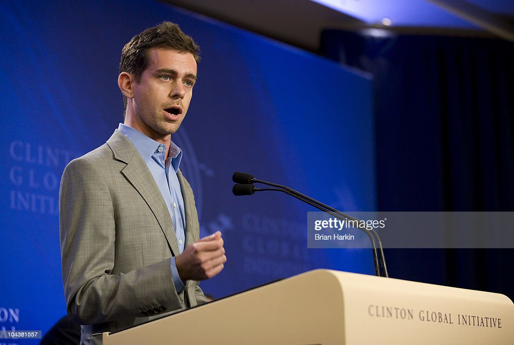 Jack Dorsey, the Co-Founder and Chairman of Twitter, speaks at a press conference announcing the DNA Foundation's 'Real Men Don't Buy Girls' campaign against sexual slavery during the annual Clinton Global Initiative (CGI) on September 23, 2010 in New York City. The DNA Foundation was founded by the actors Ashton Kutcher and Demi Moore. The sixth annual meeting of the CGI gathers prominent individuals in politics, business, science, academics, religion and entertainment to discuss global issues such as climate change and the reconstruction of Haiti. The event, founded by Clinton after he left office, is held the same week as the General Assembly at the United Nations, when most world leaders are in New York City.