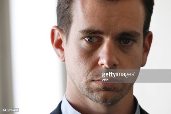 Jack Dorsey US CEO and cocreator of the online social networking service and microblogging serviceTwitter is pictured during a visit on March 14 2012...