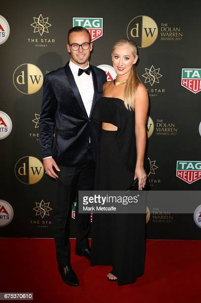 Jack Duncan and Anea Dixon arrive ahead of the FFA Dolan Warren Awards at The Star on May 1 2017 in Sydney Australia