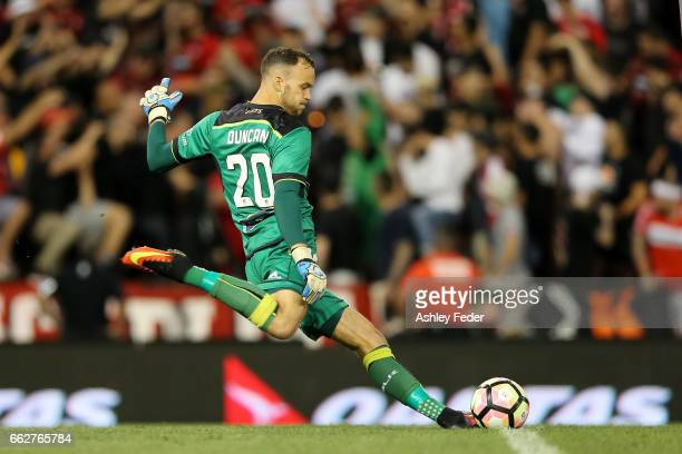 Jack Duncan of the Jets in action during the round 25 ALeague match between the Newcastle Jets and the Western Sydney Wanderers at McDonald Jones...