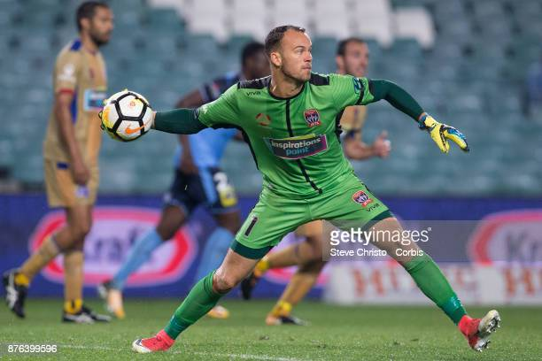 Jack Duncan of the Jets in action during the round seven ALeague match between Sydney FC and Newcastle Jets at Allianz Stadium on November 18 2017 in...