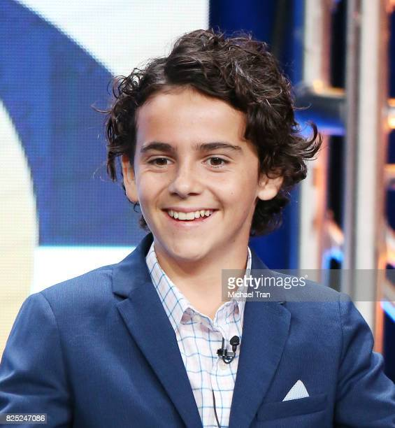 Jack Dylan Grazer of 'Me Myself I' speaks onstage during the 2017 Summer TCA Tour CBS Panels held at Various Locations on August 1 2017 in Los...