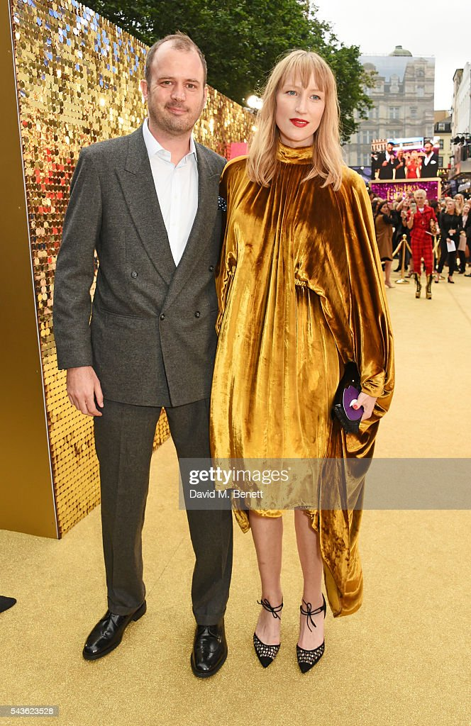 Jack Dyson (L) and Jade Parfitt attend the World Premiere of 'Absolutely Fabulous: The Movie' at Odeon Leicester Square on June 29, 2016 in London, England.