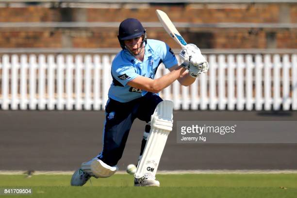 Jack Edwards of Cricket NSW plays a shot during the Cricket NSW Intra Squad Match at Hurstville Oval on September 2 2017 in Sydney Australia