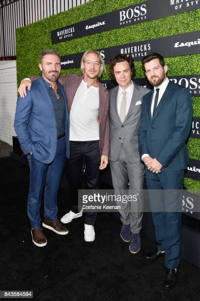 Jack Essig Diplo Jay Fielden and Dillon Frances attend Esquire Celebrates September Issue's 'Mavericks of Style' Presented by Hugo Boss at Chateau...