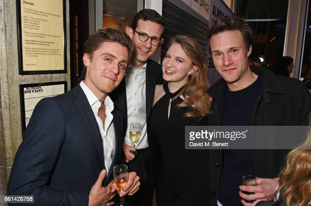 Jack Farthing guests and Hugh Skinner attend 'Brave New Works The Almeida Fundraising Gala 2017' at The Almeida Theatre on March 30 2017 in London...
