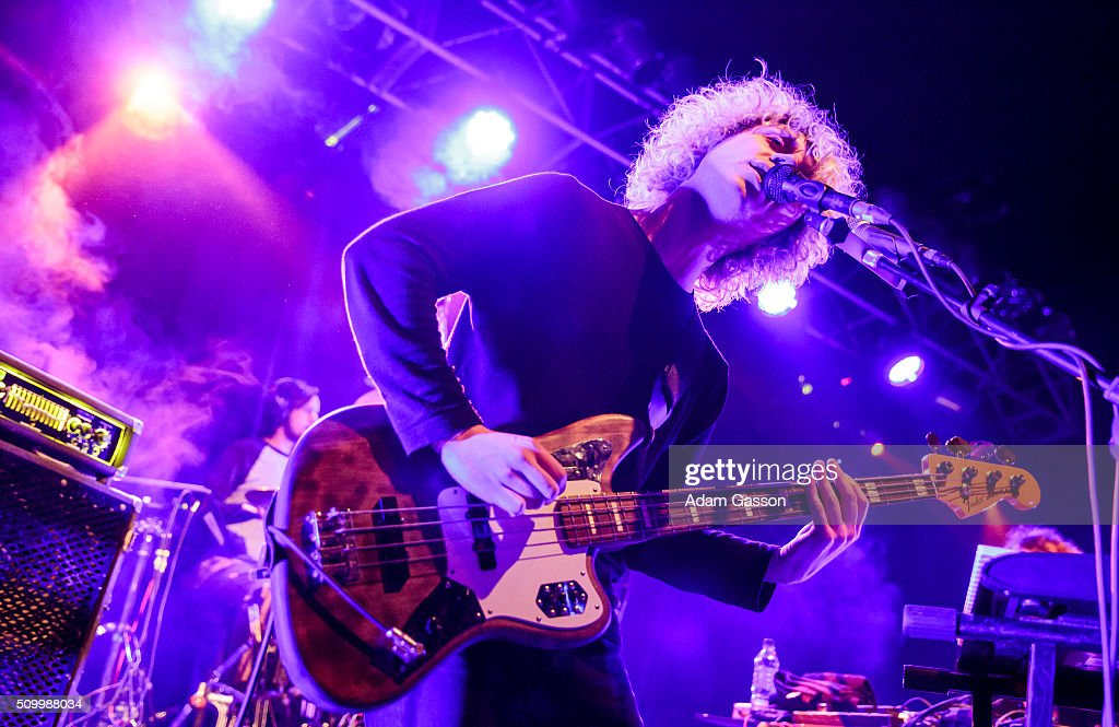 Jack Flanagan from Mystery Jets performs on the second day of the BBC 6 Music Festival at the O2 Academy on February 13, 2016 in Bristol, England.