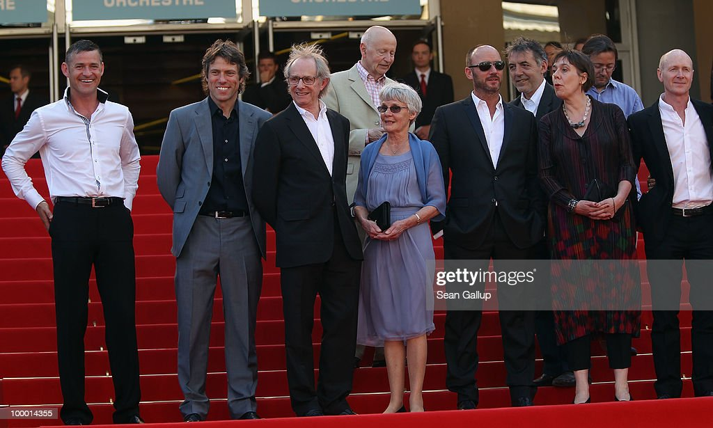Jack Fortune, John Bishop, Director Ken Loach and wife Lesley Ashton, Mark Womack, Producer Rebecca O'Brien and screen writer Paul Laverty attend the 'Route Irish' Premiere at the Palais des Festivals during the 63rd Annual Cannes Film Festival on May 20, 2010 in Cannes, France.