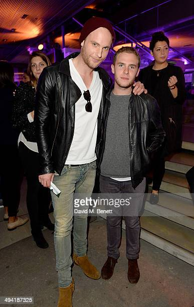 Jack Fox and Iain De Caestecker attend the Lacoste Store Reopening on May 28 2014 in London England