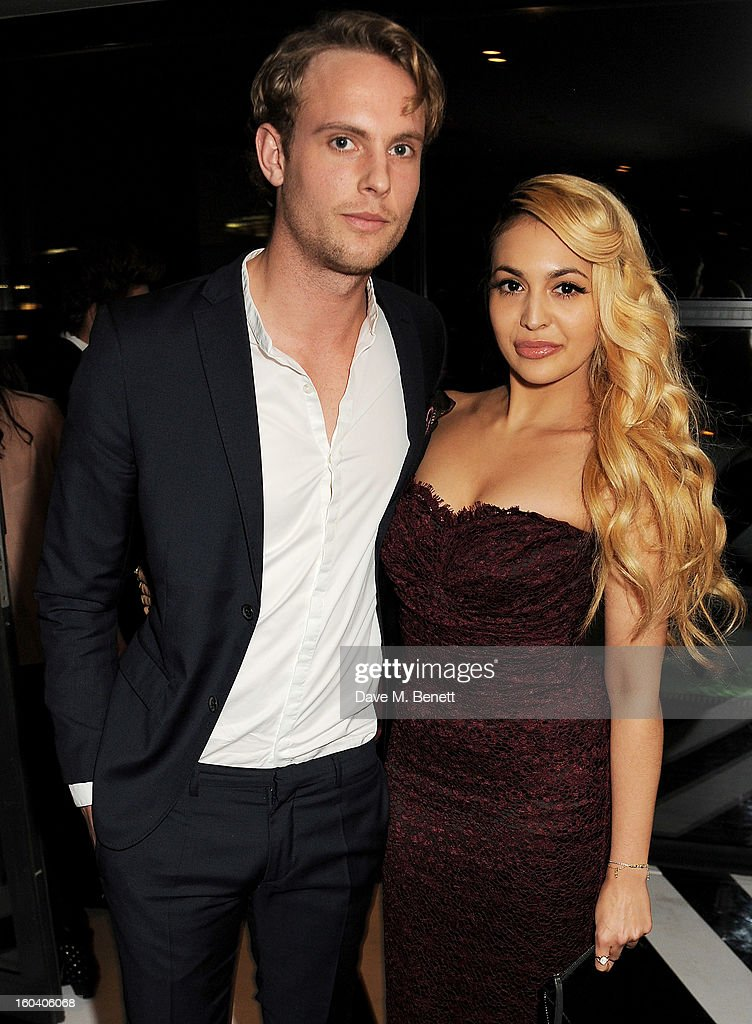 Jack Fox (L) and Zara Martin attend the InStyle Best Of British Talent party in association with Lancome and Avenue 32 at Shoreditch House on January 30, 2013 in London, England.