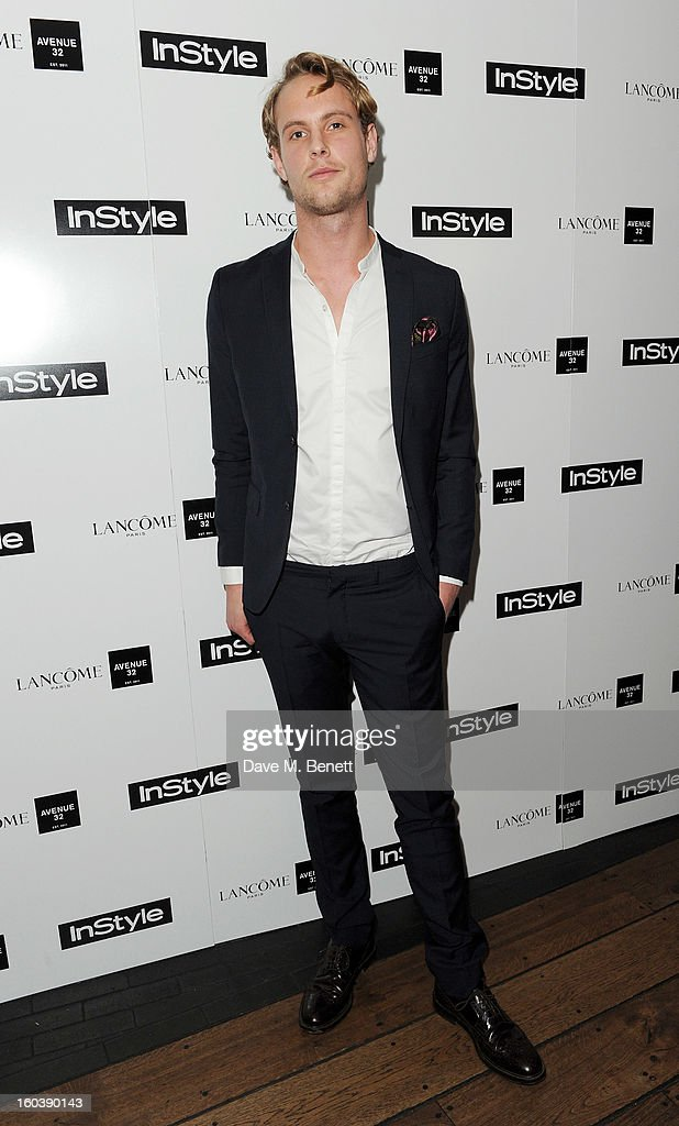 Jack Fox arrives at the InStyle Best Of British Talent party in association with Lancome and Avenue 32 at Shoreditch House on January 30, 2013 in London, England.