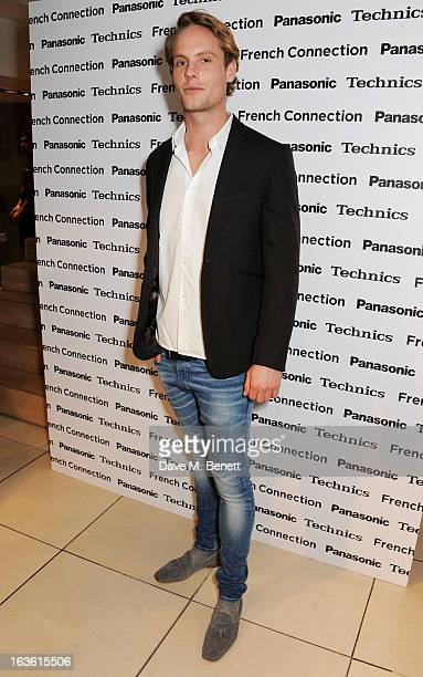 Jack Fox attends the Panasonic Technics 'Shop To The Beat' Party hosted by George Lamb at French Connection Oxford Circus on March 13 2013 in London...