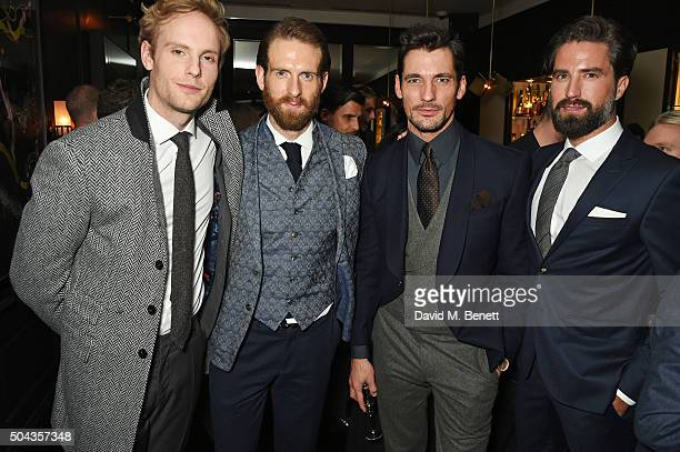 Jack Fox Craig McGinlay David Gandy and Jack Guinness attend a private dinner hosted by Tommy Hilfiger and Dylan Jones to celebrate London...