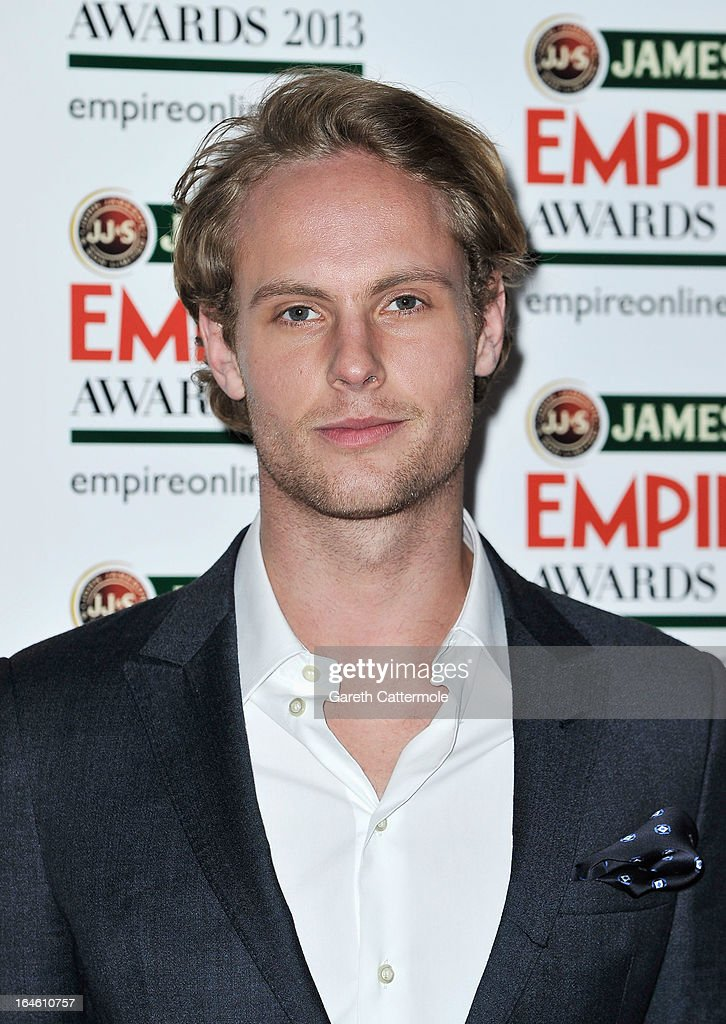 Jack Fox is pictured arriving at the Jameson Empire Awards at Grosvenor House on March 24, 2013 in London, England.