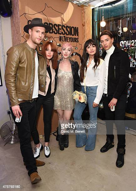 Jack Fox Laura Welsh Femme Zara Martin and Nat Weller attend the launch of OAKLEY IN RESIDENCE LONDON a popup cycling destination and hangout for...
