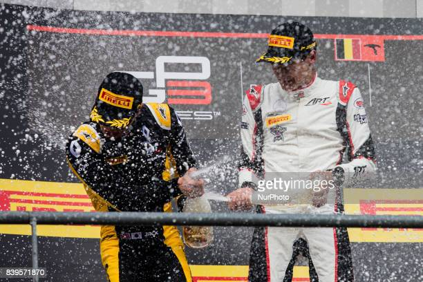 Jack from Great Britain of Art Grand Prix Renault young drivers program and RUSSELL George from Great Britain of Art Grand Prix Mercedes young...