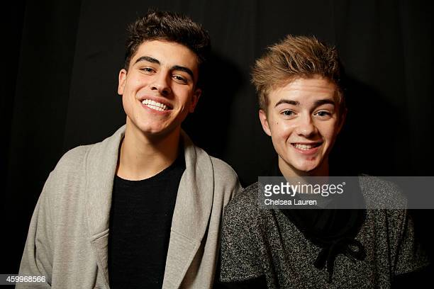 Jack Gilinsky and Jack Johnson arrive at DigiTour presents 'Jack Jack The Movie' Los Angeles premiere at Pacific Theatre at The Grove on December 4...