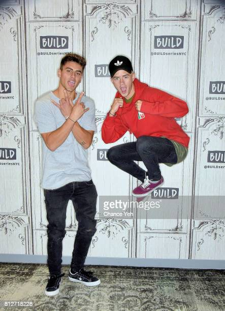 Jack Gilinsky and Jack Johnson attend Build series to discuss their new EP 'Gone' at Build Studio on July 11 2017 in New York City