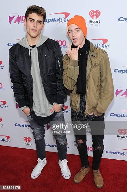 Jack Gilinsky and Jack Johnson of Jack Jack attend Z100's Jingle Ball 2016 at Madison Square Garden on December 9 2016 in New York City