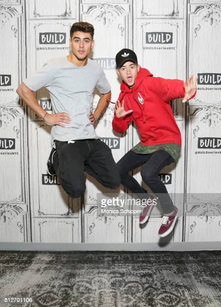 Jack Gilinsky and Jack Johnson of Jack Jack discuss their new EP 'Gone' at Build Studio on July 11 2017 in New York City