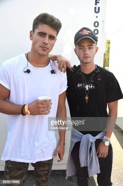Jack Gilinsky and Jack Johnson of Jack Jack pose for a photo during Day Two of 2017 Billboard Hot 100 Festival at Northwell Health at Jones Beach...