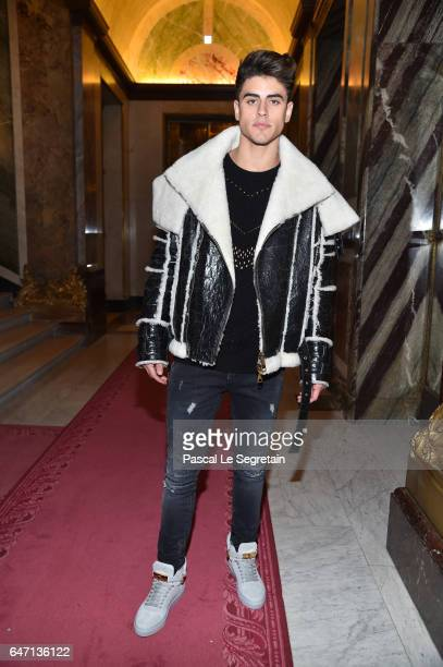 Jack Gilinsky attends the Balmain show as part of the Paris Fashion Week Womenswear Fall/Winter 2017/2018 on March 2 2017 in Paris France