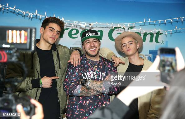 Jack Gilinsky Mo' Bounce and Jack Johnson of the band Jack Jack perform on stage during Z100 CocaCola All Access Lounge at Z100's Jingle Ball 2016...