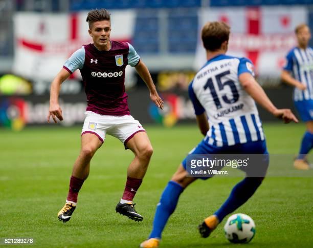 Jack Grealish of Aston Villa during a pre season friendly between Hertha BSC and Aston Villa at the Heidewaldstadion on July 23 2017 in Duisburg...
