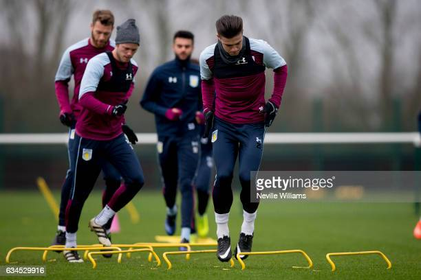 Jack Grealish of Aston Villa during a training session at the club's training ground at Bodymoor Heath on February 10 2017 in Birmingham England