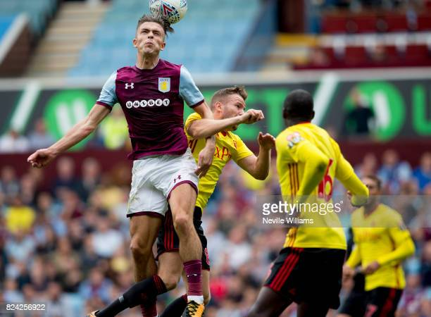 Jack Grealish of Aston Villa during pre season match between Aston Villa and Watford at Villa Park on July 29 2017 in Birmingham England