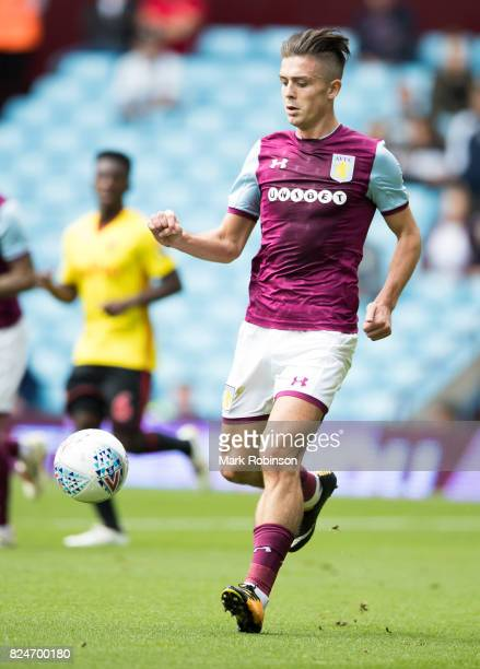Jack Grealish of Aston Villa during the pre season friendly match between Aston Villa and Watford at Villa Park on July 29 2017 in Birmingham England