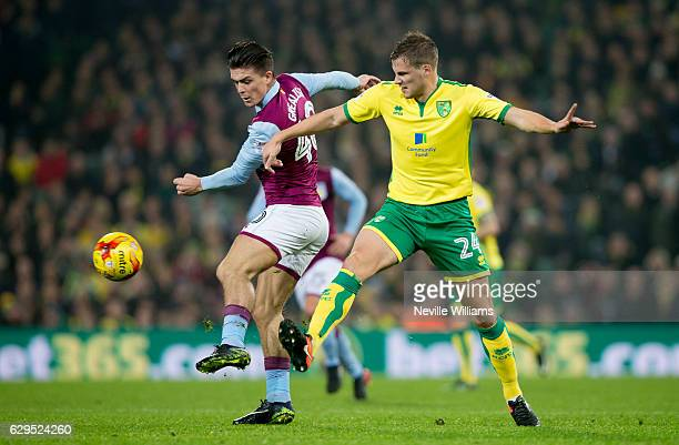 Jack Grealish of Aston Villa during the Sky Bet Championship match between Norwich City and Aston Villa at Carrow Road on December 13 2016 in Norwich...