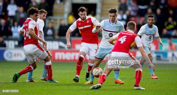 Jack Grealish of Aston Villa during the Sky Bet Championship match between Rotherham United and Aston Villa at the New York Stadium on March 04 2017...