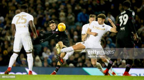 Jack Grealish of Aston Villa during the Sky Bet Championship match between Leeds United and Aston Villa at Elland Road on December 01 2017 in Leeds...