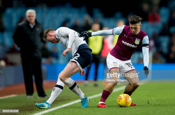 Jack Grealish of Aston Villa during the Sky Bet Championship match between Aston Villa and Millwall at Villa Park on December 09 2017 in Birmingham...