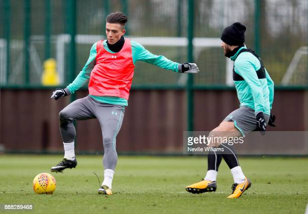 Jack Grealish of Aston Villa in action during a training session at the club's training ground at Bodymoor Heath on December 08 2017 in Birmingham...