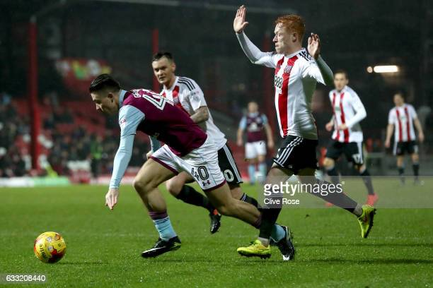 Jack Grealish of Aston Villa shoots at goal during the Sky Bet Championship match between Brentford and Aston Villa at Griffin Park on January 31...