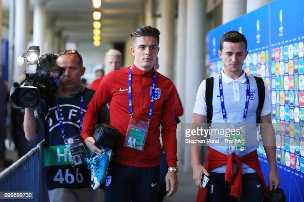 Jack Grealish of England arrives at the stadium prior to the UEFA European Under21 Championship Group A match between England and Poland at Kielce...