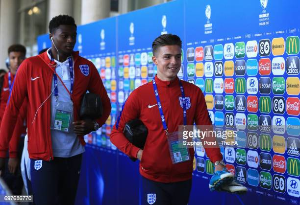 Jack Grealish of England arrives for the UEFA European Under21 Championship Group A match between Slovakia and England at Kielce Stadium on June 19...
