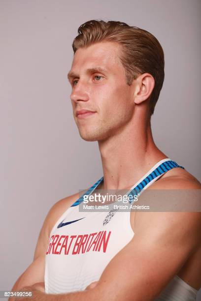 Jack Green of the British Athletics team poses for a portrait during the British Athletics Team World Championships Preparation Camp July 27 2017 The...